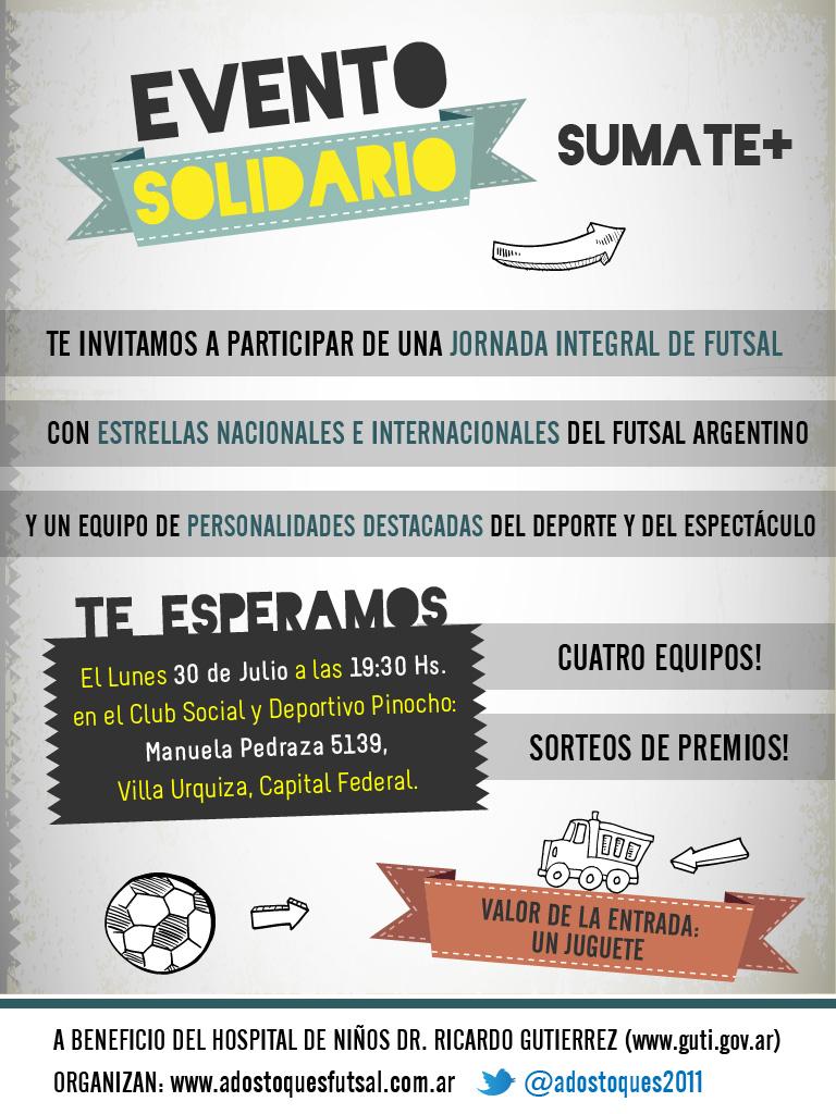 @PolloVignolo @fercarlos75 Evento de futsal a beneficio del Hospital de Niños Dr. Ricardo Gutierrez. Favor de difundir. http://t.co/jkcyERuy
