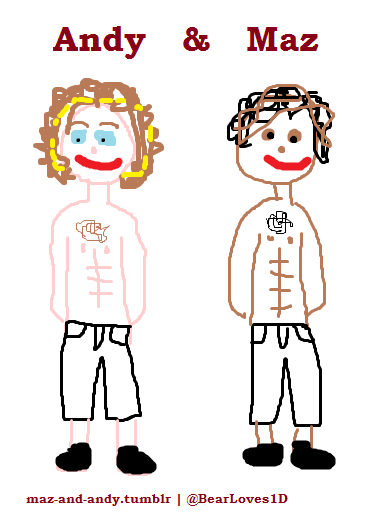 RT @BearLoves1D: I drew you guys @AndySamuels31 @Mazzi_Maz its fABulous http://t.co/88McqbEq