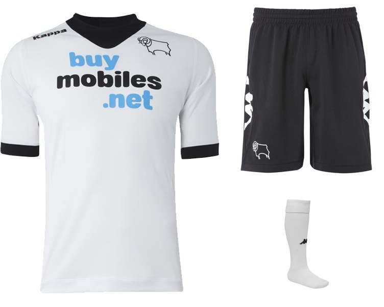 FOTO: Novo uniforme titular do Derby County para a temporada. http://t.co/YF9NYjLc
