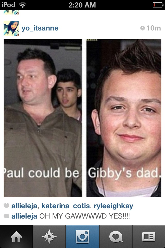 Plot twist: PAWL is Gibbys dad . @1DGPSOfficial http://t.co/W9pDGMNV