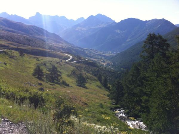 This morning's climb of the Col de Vars. 27km to the foot of the Col du Galibier. Good luck to Wiggins! #AllezWiggo