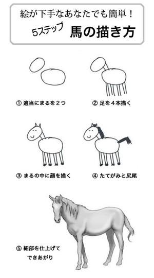 下手な人でも簡単に描ける馬の描き方 http://t.co/5ecC68Tq