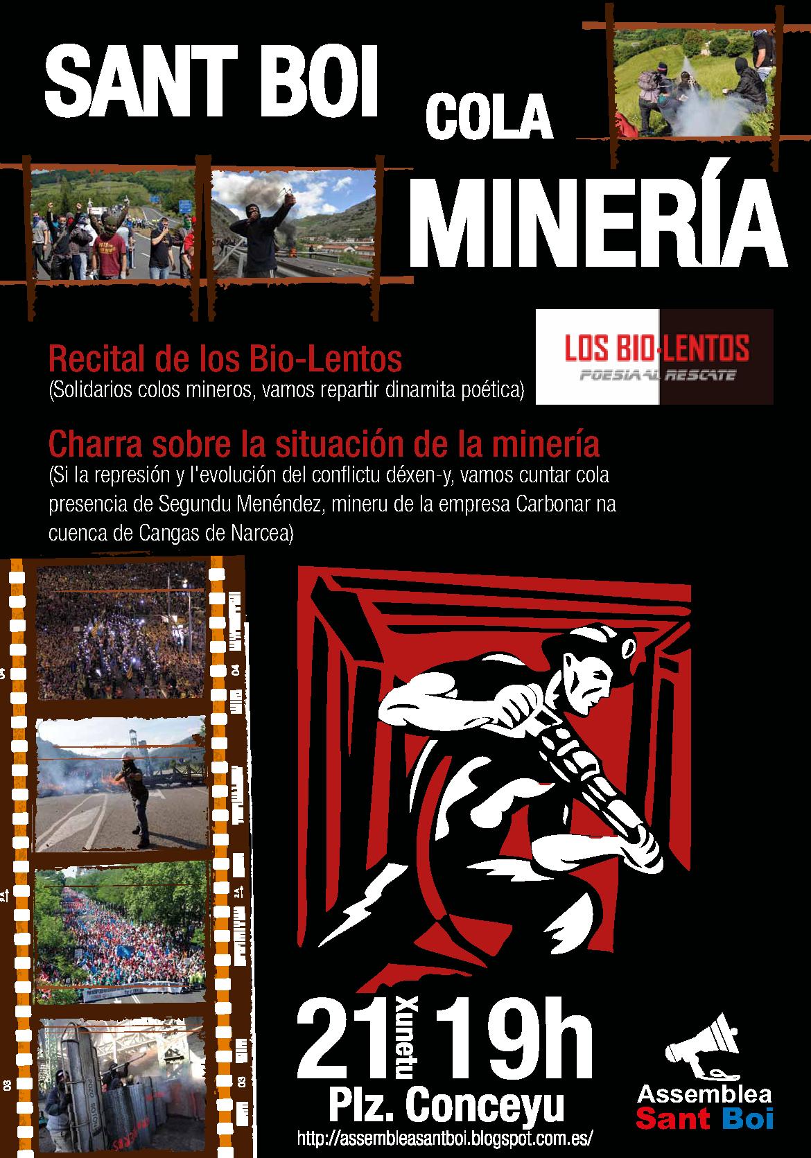 '@AssembleaStBoi: Güei en  #SantBoi Segundu, mineru de la CSI, va falanos sobre la llucha minera. http://t.co/bB6EFXNr'
