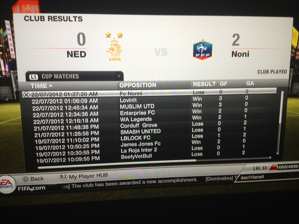 @EASPORTSFIFA sort it out. Just won 4 VP cup games on the row yet not won the trophy? Played 2nd final & lost! #joke http://t.co/xF5R4UFt