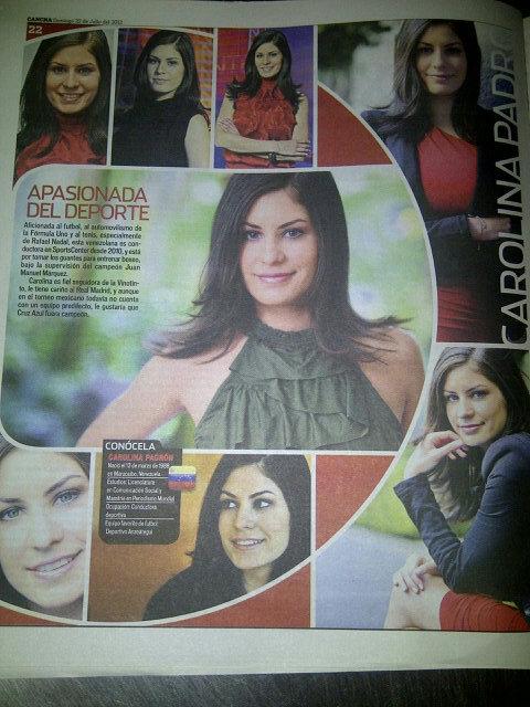 RT @CarolinaPadron: Gracias por la foto! RT @NoTraigoFiesta: Mira saliste en el periodico Cancha de El Norte aca en Monterrey, saludos!  ...
