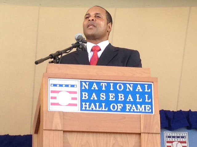 ?This is unbelievable. UN-STINKING-BELIEVABLE!? ? An exuberant Barry Larkin making his @BaseballHall induction speech. http://t.co/te0uQkAg