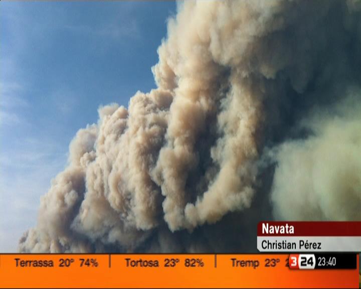 #incendilajonquera al igual que el incendio de Tenerife dejan imagenes impresionantes http://t.co/iDAQFPai