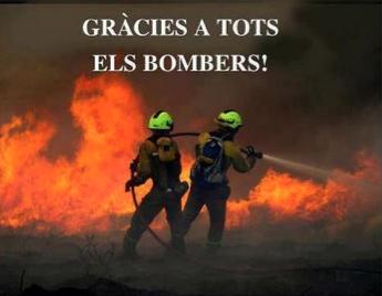 Lunes triste por culpa del fuego. Dilluns trist per culpa del foc. Gracias a todos los que colaboran! #focsempord?  http://t.co/XQW7HYF4