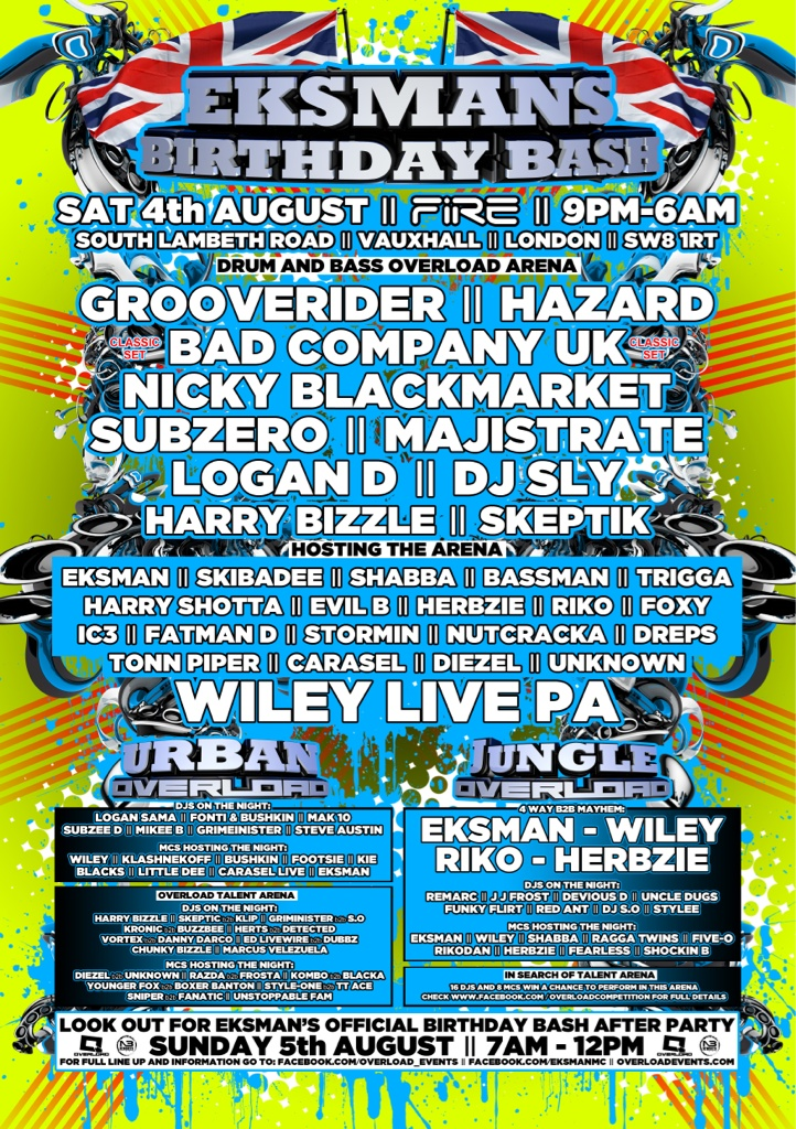 Drum and bass overload arena! For those who want straight roar Dnb! 4th August! http://t.co/TEabXBbS