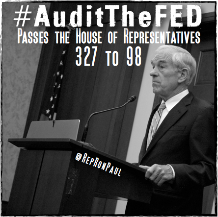 The House overwhelmingly passed H.R. 459 to #AuditTheFed! http://t.co/PiKTeaKi