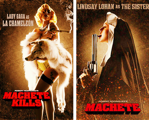 Lady Gaga's 'Machete Kill's poster + Lindsay Lohan's 'Machete Kill's poster http://t.co/3oJBEXDS