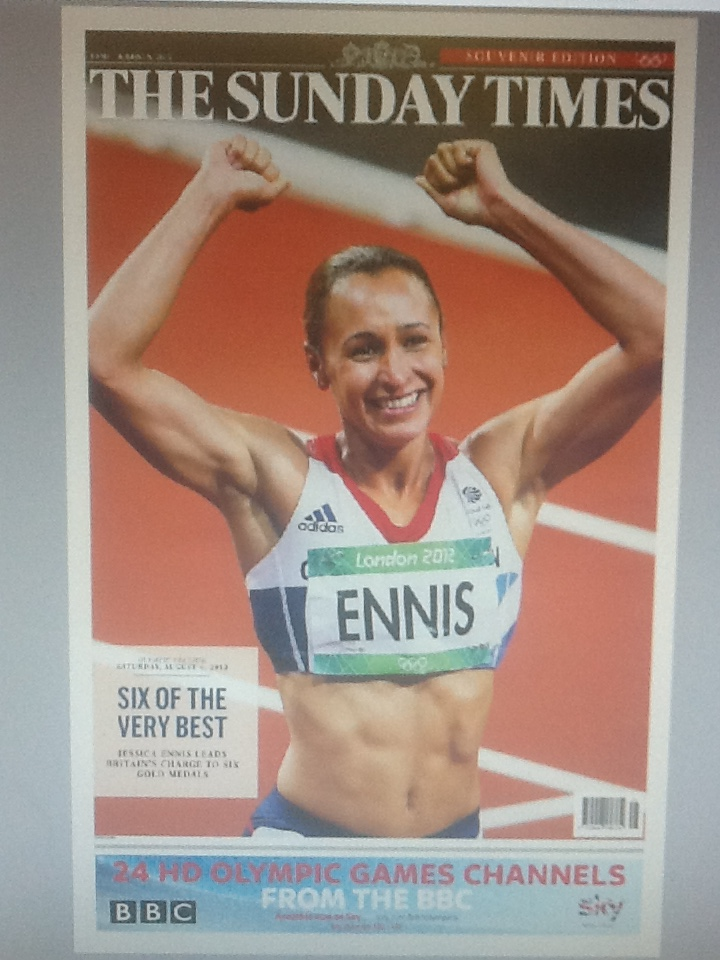 RT @GordonJThomson: @suttonnick Abs fab. Tomorrow's Sunday Times Olympic edition cover wrap http://t.co/RteumemJ