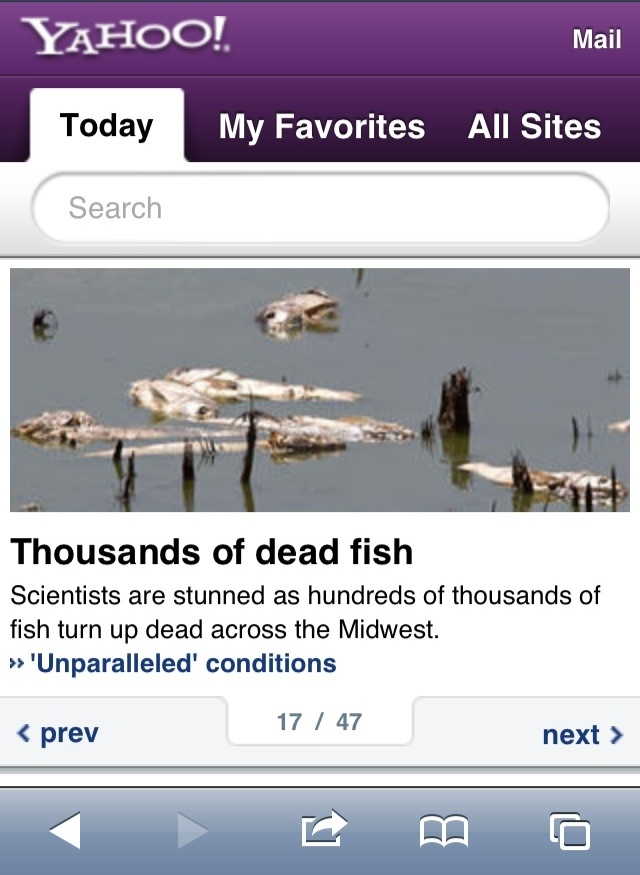 thousands of dead fish across the midwest... hhmmmmm... http://t.co/J7WpeIql