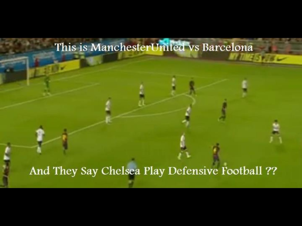 Yeah sure, and they said Chelsea play defensive. And even if we do, at least we beat Barca http://t.co/sRWhDsJb