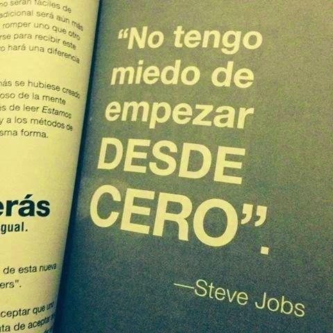 No tengo miedo a empezar desde cero - S. Jobs // ni yo! Feliz noche, por todas las oportunidades y minutos por venir. http://t.co/5ZccpT3MVH