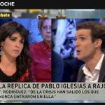 Así es @TeresaRodr_ no los dejes hablar y decir mentiras. Rajoy vente a @PodemosCadiz #L6Neldebate http://t.co/kAQnCB6Tk6