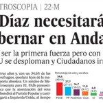 Elecciones andaluzas: @PSOE 34,6% @PPopular 27,7 @ahorapodemos 16,7 @CiudadanosCs 11 @iunida 6,8 http://t.co/chMqzh9UKk v @metroscopia