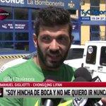 """#Gigliotti """"Uno disfruta de estar acá, el grupo es extraordinario, uno es HINCHA de Boca y no me quiero ir NUNCA"""" http://t.co/MFtKquqTv4"""