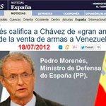 #UTNExclusivaVenezuela El Gobiernos del #PP y vende armas al Gobierno de Venezuela. El #PP amigo de Venzuela JaJaJa http://t.co/gzLCny3I0J