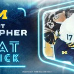 The first hat trick of the night goes to JT Compher of @UMichhockey in a 5-2 win against Wisconsin. #NCAAHockey http://t.co/s7U7MbOTY9