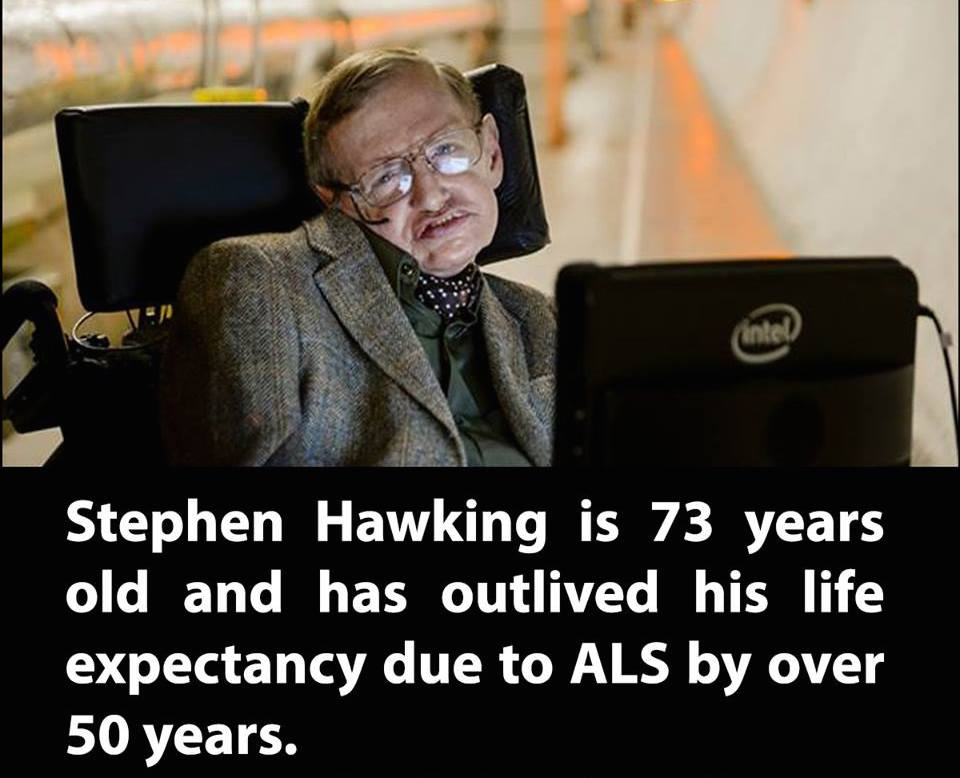 Hawking's condition was first diagnosed when he was 21, and he was not expected to see his 25th birthday. http://t.co/GoaI96mufC