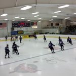EC Memorial on the ice for warmups. Old Abes vs Hayward, @wiaawi sectional final. Updates to follow. #ecscores http://t.co/Pa1Tyo23PP