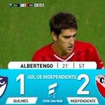 Gol de Independiente: Albertengo 21 ST.: Quilmes 1 – Independiente 2. Miralo en vivo por http://t.co/1aowFIuWFm http://t.co/zKVbAxZiUp