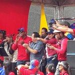 El Ministro @RMarcoTorres en tarima con alegría junto al pueblo Venezolano y sus trabajador@s #28FMarchaPorLaPatria http://t.co/bWs3Imk4kl