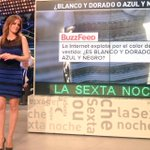 Muy guapa @andrearopero con el vestido de la discordia en @SextaNocheTV #L6Nelvestido @_InakiLopez_ Azul y Negro!!! http://t.co/nCzx9OYlmP