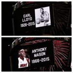 A pregame moment of silence inside @AAarena for Earl Lloyd & Anthony Mason. http://t.co/9qg8tyShHd