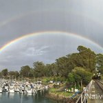 A full double rainbow over the Santa Cruz Harbor!! http://t.co/7SFT5TwOhm