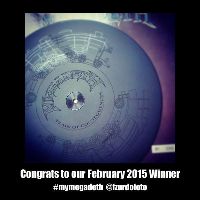 Congrats to February's #mymegadeth winner!! Tag your pics with #mymegadeth for a chance at monthly prizes! http://t.co/qEuQpCLLWB