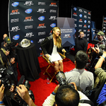 @RondaRousey UFC womens bantamweight champion interacts with media during the UFC 184 Ultimate Media Day http://t.co/RPciTr8JHM
