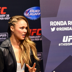@RondaRousey UFC womens bantamweight champion interacts with media during the UFC 184 Ultimate Media Day http://t.co/5sUfdS4aIK