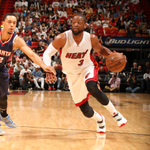 Despite a good half from Whiteside (8p 14r) & Wade (8p 3stls) @MiamiHEAT trail @ATLHawks 43-33 at intermission. http://t.co/TjC42kWpvl