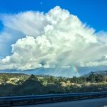 Caught this beautiful towering Cu, rainbow and all over Carmel Valley about an hour ago. #CAwx http://t.co/tAenqkFCXd