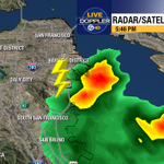 Audible in Noe Valley. RT @DrewTumaABC7  Lightning strike just south of San Francisco. http://t.co/KNA1yUT67S