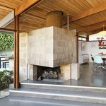 Angular cinder block fireplace in Los Angeles: http://t.co/1xVxKq9NRR http://t.co/v0xNrHSsxS #architecture