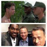 Antes y Después #ForrestGump  Teniente Dan - Bubba - Forrest http://t.co/nkGSMBH4dK