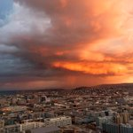 EPIC thunderstorm/sunset combo going on right now. http://t.co/3HOEWoR0Mt