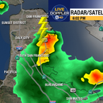 A second lightning strike with the storm nearing South San Francisco. http://t.co/Gvtn8MwGFn