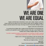 RT @mkstalin: WE ARE ONE. WE ARE EQUAL.