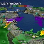 Strong cell near Daly City, S. San Francisco w/ lightning and small hail moving slowly to the SW @nbcbayarea http://t.co/5eRBeT3LFJ