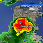 Lots of lightning strikes with this cell #DalyCity #Colma #SouthSanFrancisco http://t.co/aF86bKgGHz