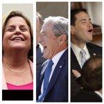 La cara de los congresistas Marco Rubio, Ileana RossLethinen y del expdte Bush cuando Maduro les negó la visa vzlana http://t.co/zybrimGiJq