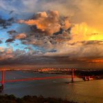 Beautiful shot of storm & sunset earlier this evening over San Francisco http://t.co/CsTpOutS9X #cawx http://t.co/gflrHx201f
