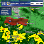 Rain is picking up over #Seattle right now. Slowly moving north. #wawx http://t.co/OMS2dMqsyt