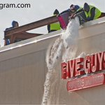 5 guys working roof @Five_Guys Burgers #Worcester dump #snow, to other guys who would plow it away @telegramdotcom http://t.co/8BYIjgZwez