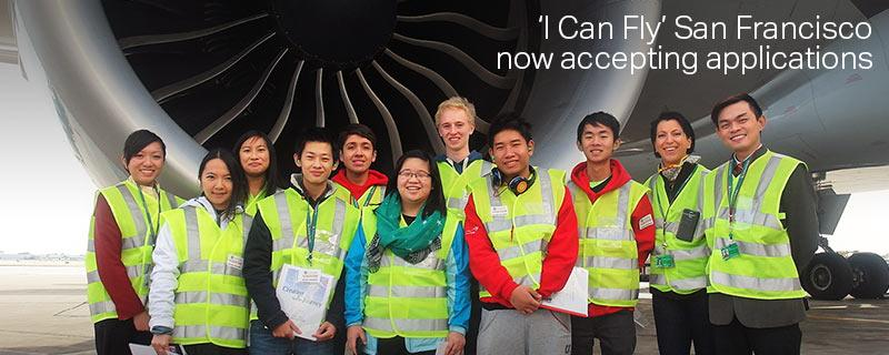 Bay Area HS students:Now accepting apps for our popular 'I Can Fly' free 8-wk aviation program