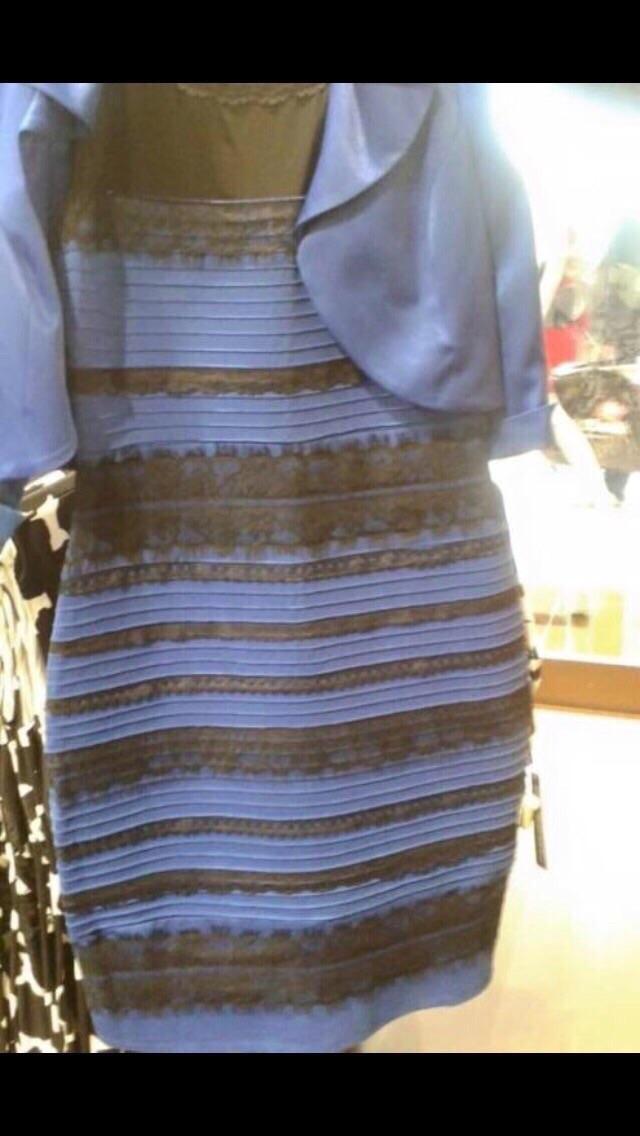 MISTÉRIO: O Super Notícia quer saber: esse vestido é #brancoedourado ou é #pretoeazul? #Thedress http://t.co/bpZW6nFXbb